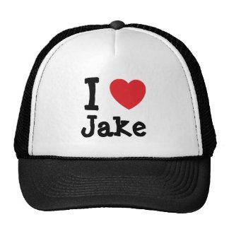 I love Jake heart custom personalized Cap