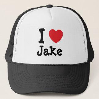 I love Jake heart custom personalized Trucker Hat