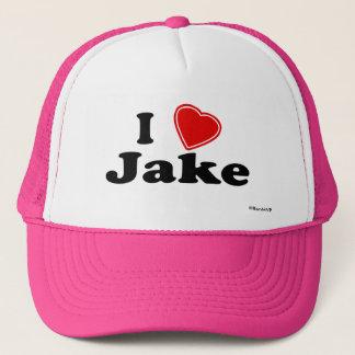 I Love Jake Trucker Hat