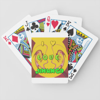 I love Jamaica.png Bicycle Playing Cards