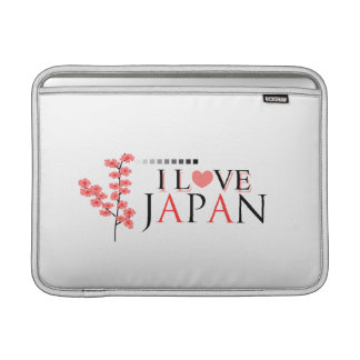 """""""I love Japan"""" design for Japan Lovers MacBook Air Sleeves"""