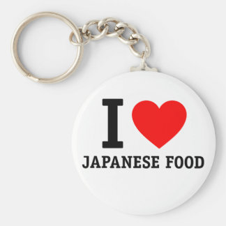 I Love Japanese Food Keychain
