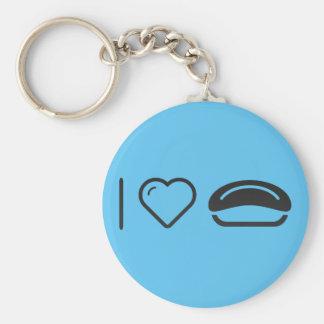 I Love Japanese Foods Basic Round Button Keychain
