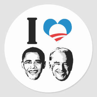I Love Joebama Round Stickers