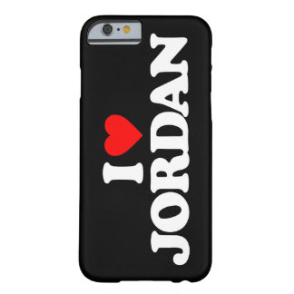 I LOVE JORDAN BARELY THERE iPhone 6 CASE