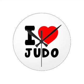 I Love Judo Round Clock