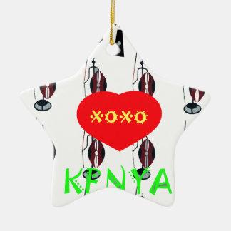 I Love Kenya XOXO Christmas Ornament