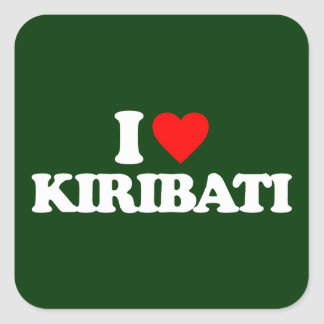 I LOVE KIRIBATI SQUARE STICKER