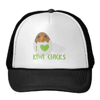 I love KIWI CHICKS with a kiwi New Zealand bird Cap