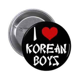 I Love Korean Boys 6 Cm Round Badge