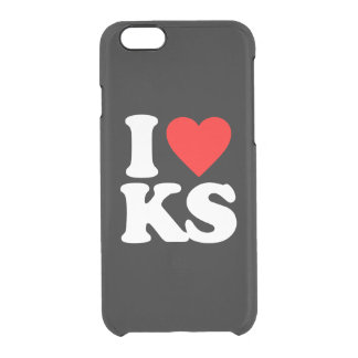 I LOVE KS CLEAR iPhone 6/6S CASE