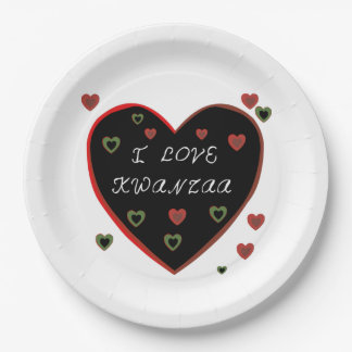 I Love Kwanzaa Kwanzaa Party Paper Plates