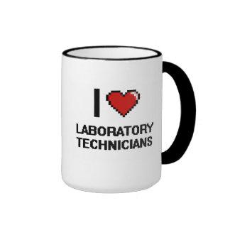I love Laboratory Technicians Ringer Coffee Mug