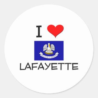 I Love LAFAYETTE Louisiana Classic Round Sticker