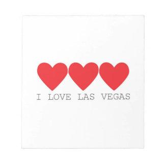 I love Las Vegas, 3 hearts Notepad
