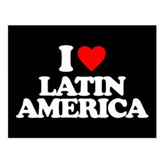 I LOVE LATIN AMERICA POST CARD