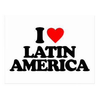 I LOVE LATIN AMERICA POSTCARDS