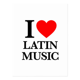 I Love Latin Music Postcard
