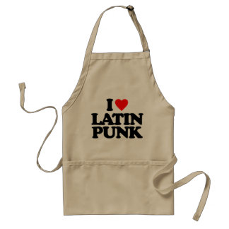 I LOVE LATIN PUNK STANDARD APRON