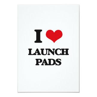 "I Love Launch Pads 3.5"" X 5"" Invitation Card"