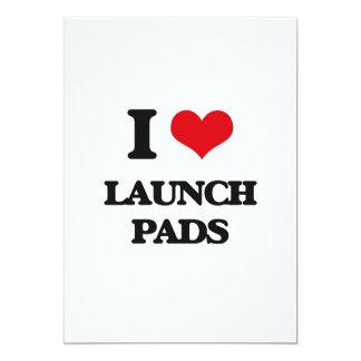 "I Love Launch Pads 5"" X 7"" Invitation Card"