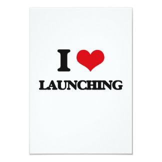 "I Love Launching 3.5"" X 5"" Invitation Card"