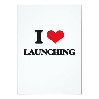 "I Love Launching 5"" X 7"" Invitation Card"