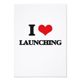 I Love Launching 13 Cm X 18 Cm Invitation Card