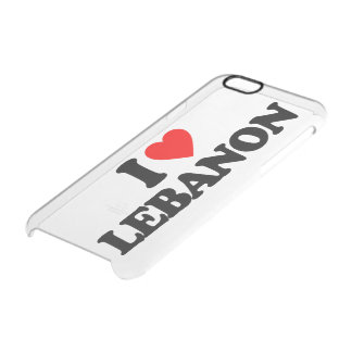 I LOVE LEBANON CLEAR iPhone 6/6S CASE