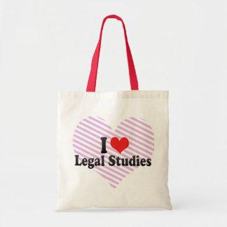 I Love Legal Studies Tote Bag