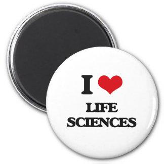 I Love Life Sciences 6 Cm Round Magnet