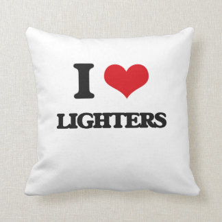 I Love Lighters Throw Pillows