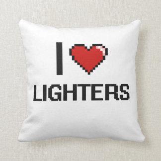 I Love Lighters Digital Retro Design Cushion