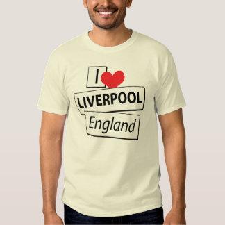 I Love Liverpool England Tshirt