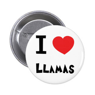 I love Llamas 6 Cm Round Badge
