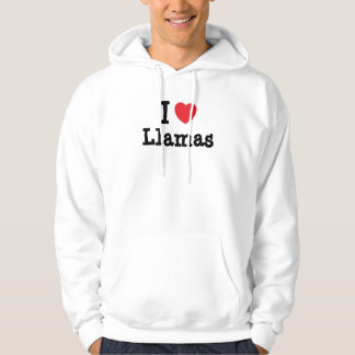 I love Llamas heart custom personalized Sweatshirt