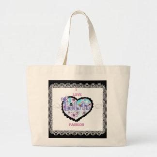 i love lolita fashion tote jumbo tote bag