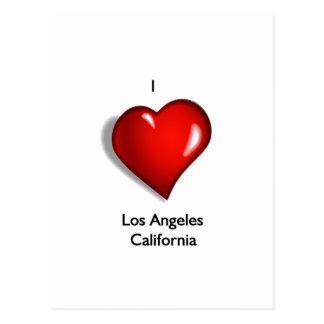 I Love Los Angeles California Postcard