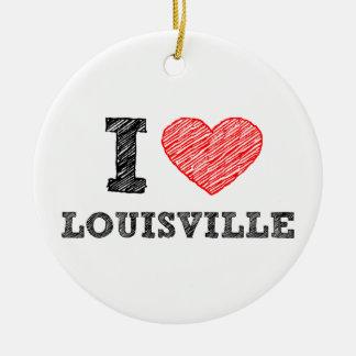 I-Love-Louisville Christmas Ornament