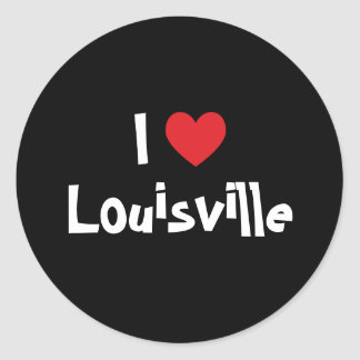 I Love Louisville Classic Round Sticker
