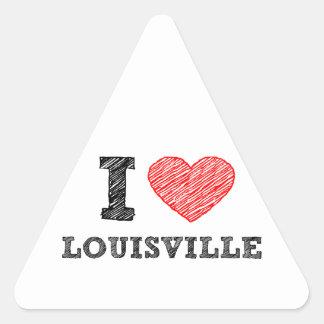 I-Love-Louisville Triangle Sticker