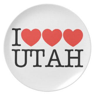 I Love Love Love UTAH! Plate