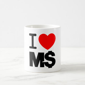 I Love M$ (light) Basic White Mug