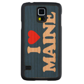 I LOVE MAINE CARVED CHERRY GALAXY S5 CASE