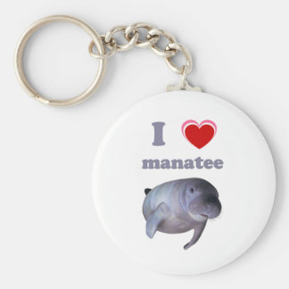 I Love Manatee Key Ring