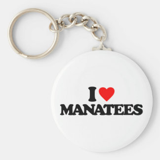 I LOVE MANATEES KEY RING