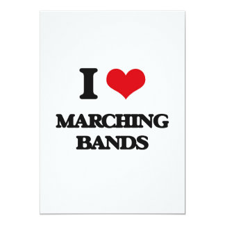 I Love Marching Bands Cards