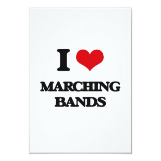 I Love Marching Bands Personalized Announcement Card