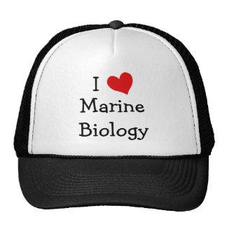 I Love Marine Biology Cap