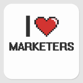 I love Marketers Square Sticker